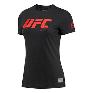 Women's Reebok Black UFC Core Logo T-Shirt