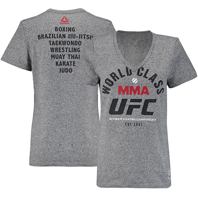 Women's Reebok Grey UFC R&M T-Shirt