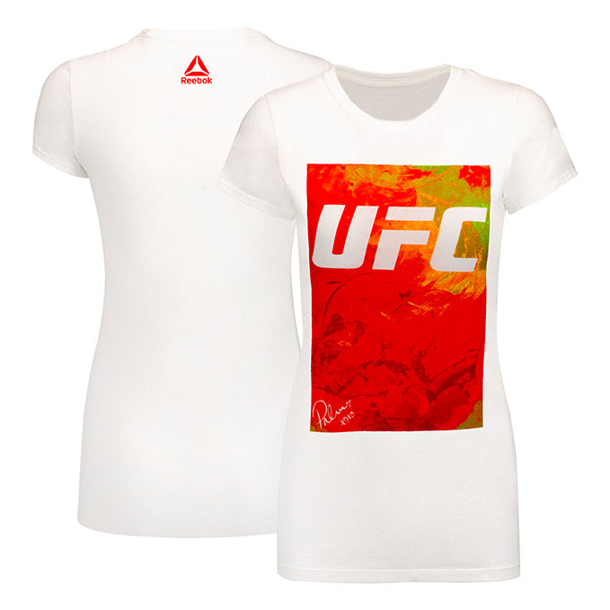 Women's UFC Reebok BP Artist Series Orange T-Shirt