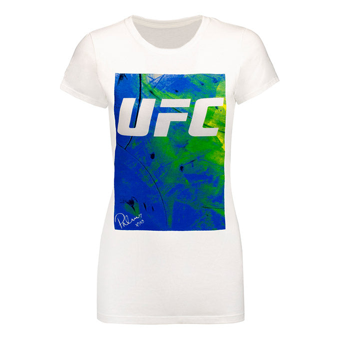 Women's UFC Reebok BP Artist Series Blue T-Shirt