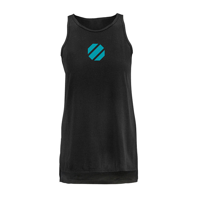 UFC Women's Vertical Side Split Tank - Black
