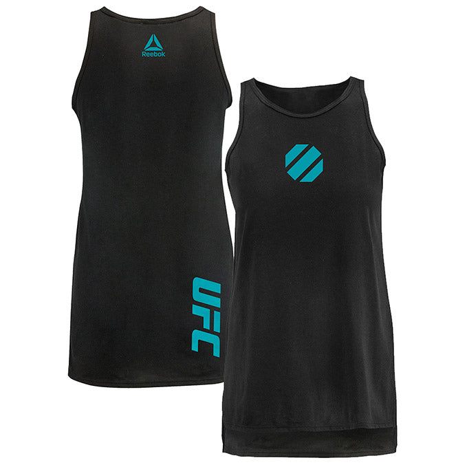 UFC Reebok Women's Vertical Side Split Tank - Black