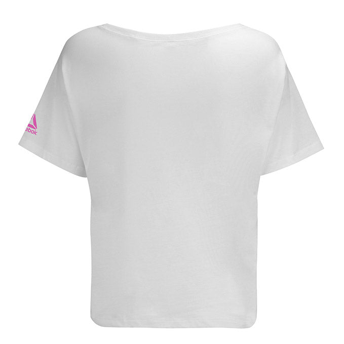 UFC Reebok Women's Ultiman Globe Oversized Boxy T-Shirt - White