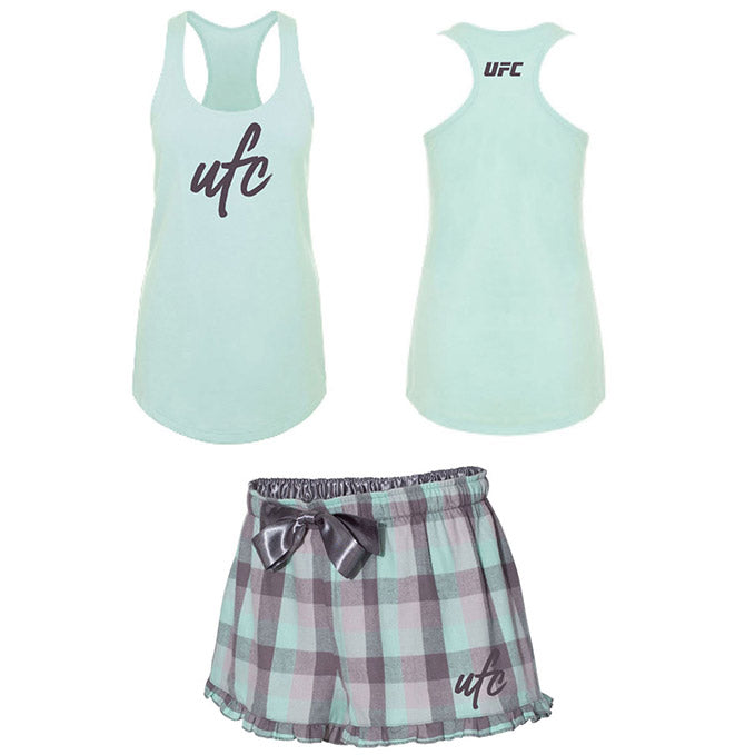 UFC Women's Ruffle Short/Tank Pajama Set