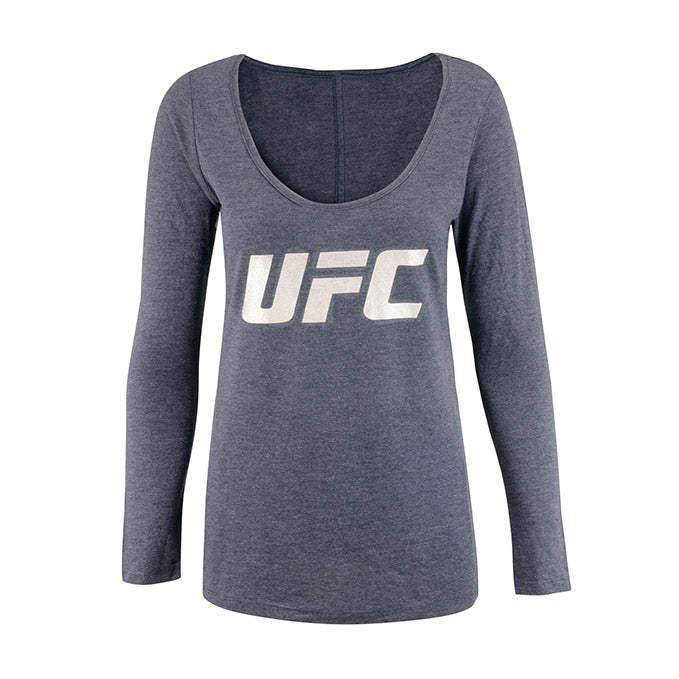 UFC Women's Scoop Foil Long Sleeve T-Shirt - Navy