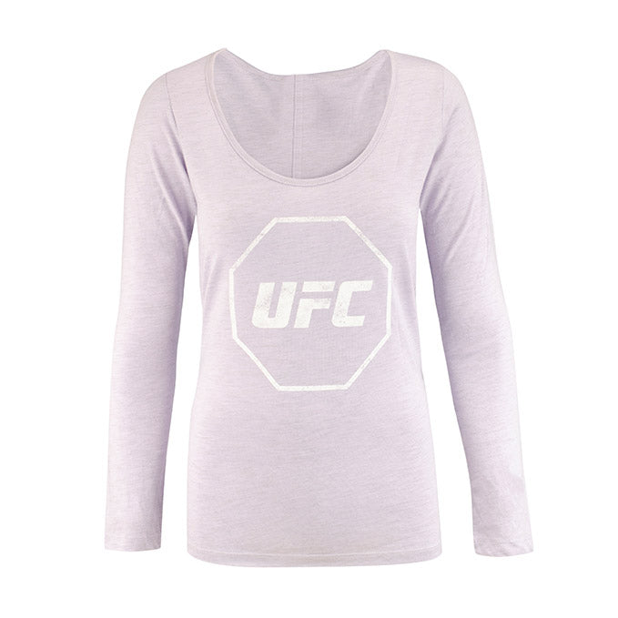 UFC Women's Distressed Scoop Long Sleeve T-Shirt