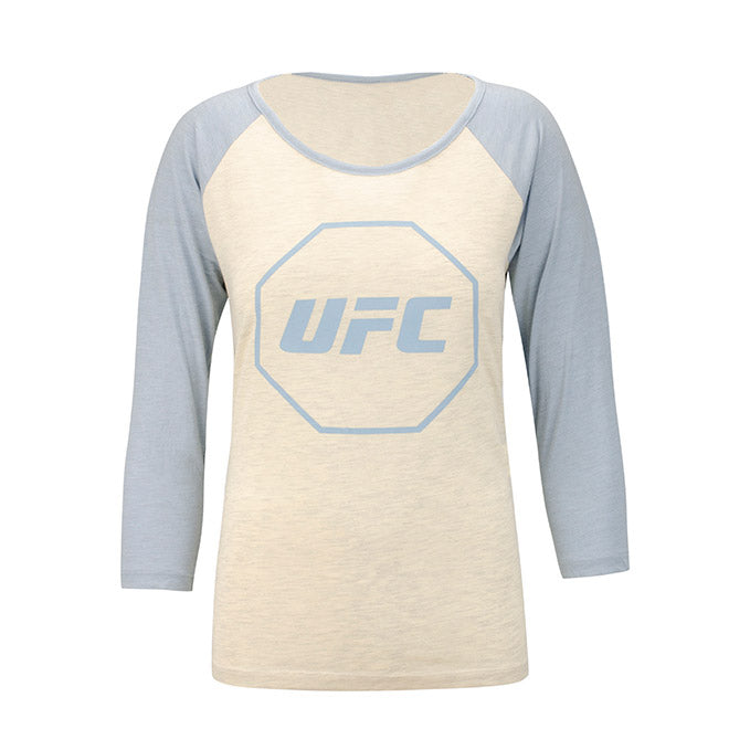 UFC Women's Raglan T-Shirt- Grey/Light Blue