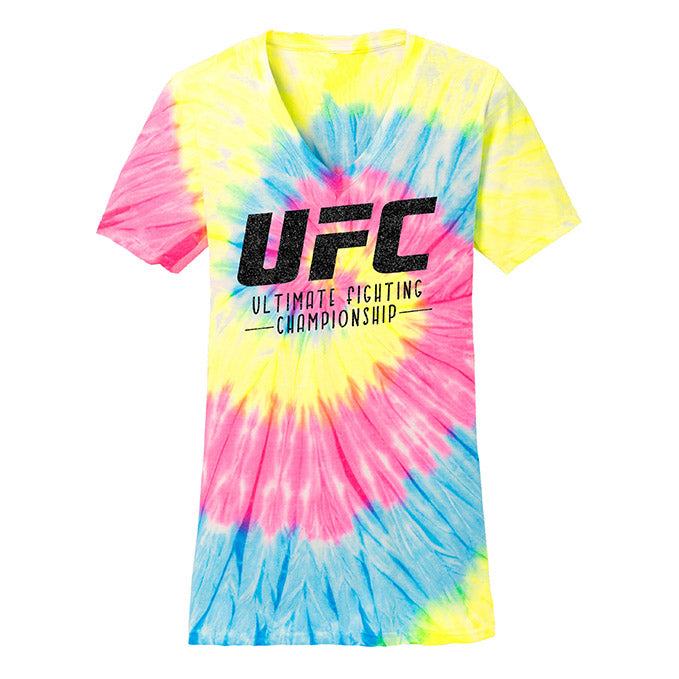 UFC Women's Summer Tie-Dye V-Neck