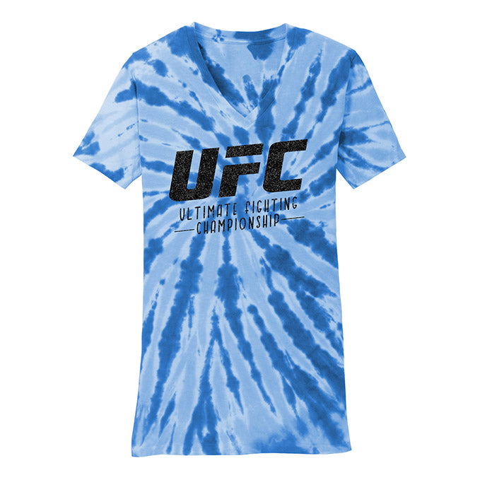 UFC Women's Tie-Dye V-Neck - Royal