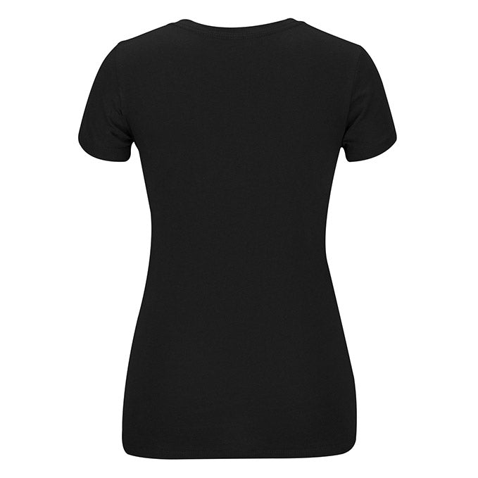 Women's UFC Reebok Black Dual Blend Essential V-Neck T-Shirt