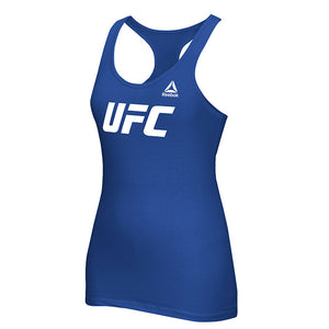 Women's UFC Reebok Royal Essential Tri-Blend Racer Back Tank Top