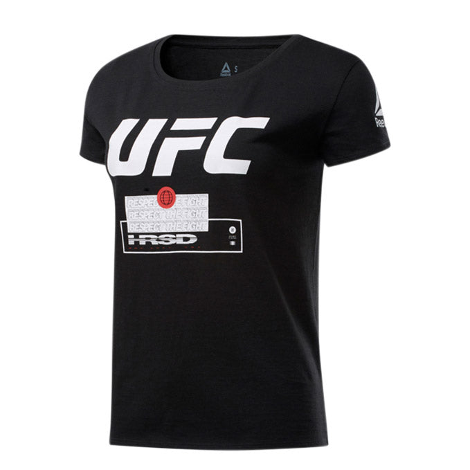 Women's UFC Reebok Fan Gear Fight Week T-Shirt - Black