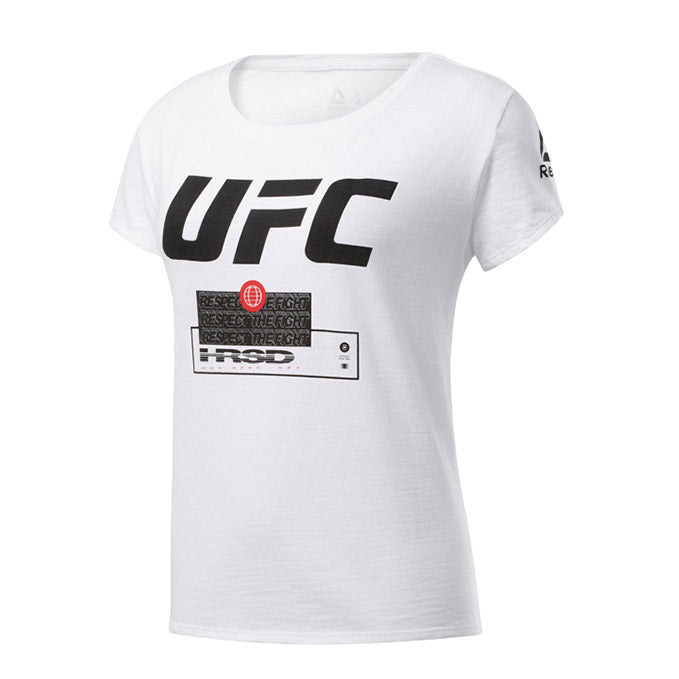 Women's UFC Reebok Fan Gear Fight Week T-Shirt - White