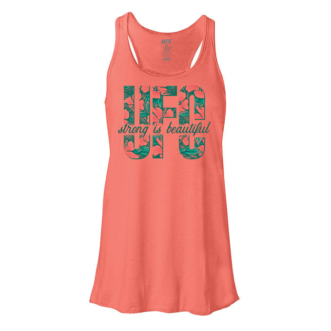 Women's UFC Strong is Beautiful Tank Top - Coral