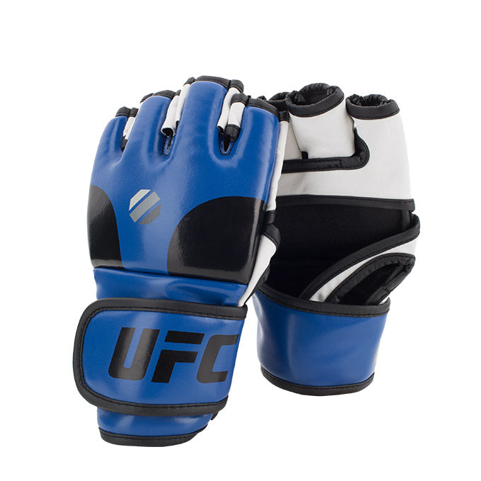 UFC Open Palm MMA Blue Training Gloves