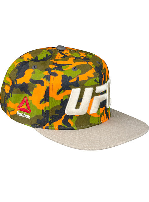 Reebok UFC Orange Camo Snap Back