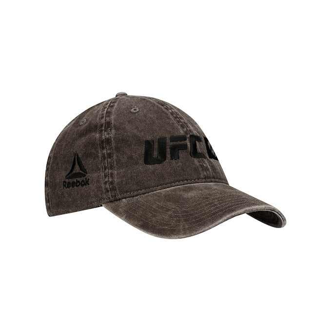UFC Reebok Performance Logo Tonal Black Adjustable Cap