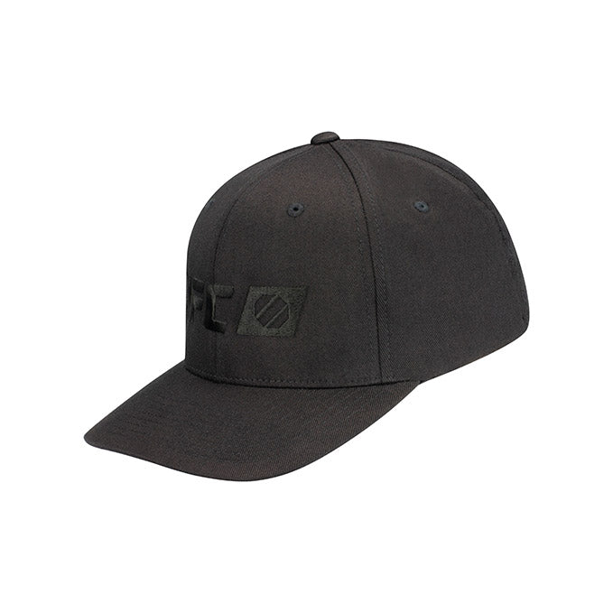 UFC Reebok Tonal Performance Logo Black Flexfit Cap