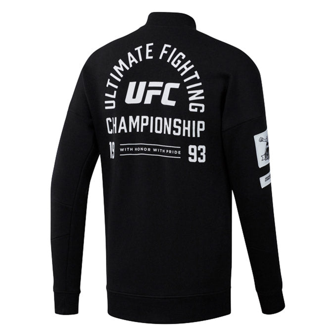 UFC Reebok Fan Gear Retro Stadium Jacket - Black