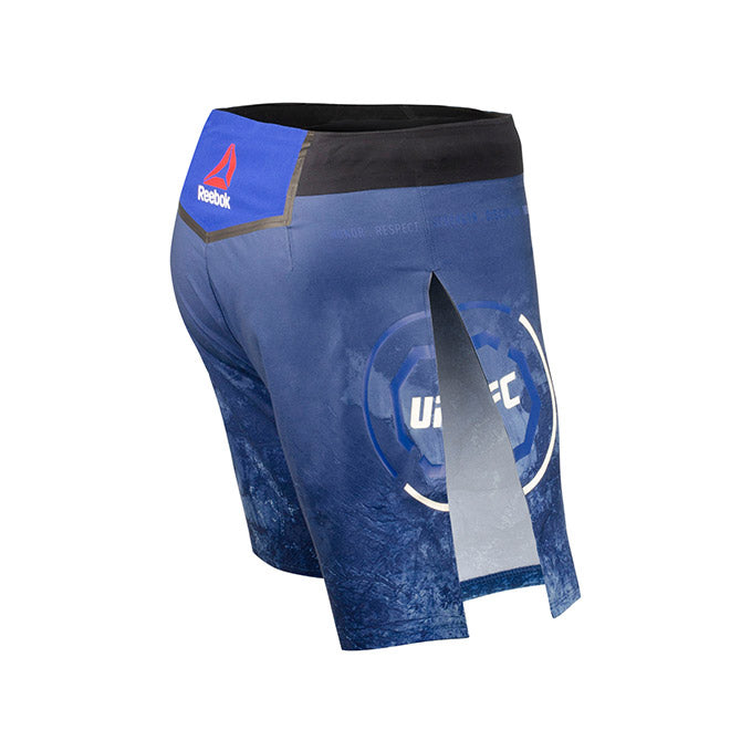 Men's Reebok Authentic UFC Gladiator Trunk Short Long-Blue