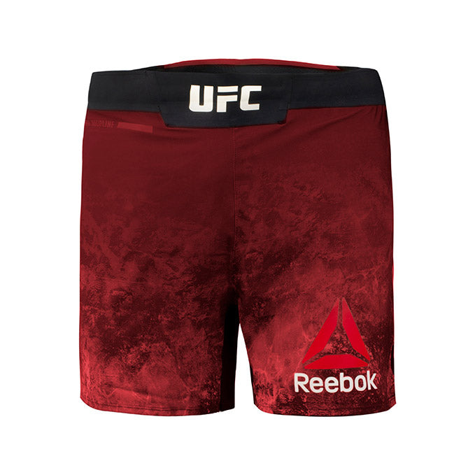Men's Reebok Authentic UFC Fight Night Octagon Short-Lux Maroon