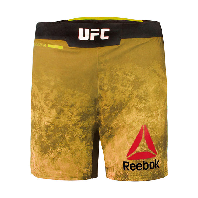 Men's Reebok Authentic UFC Octagon Trunk Short Long-Harvest Green