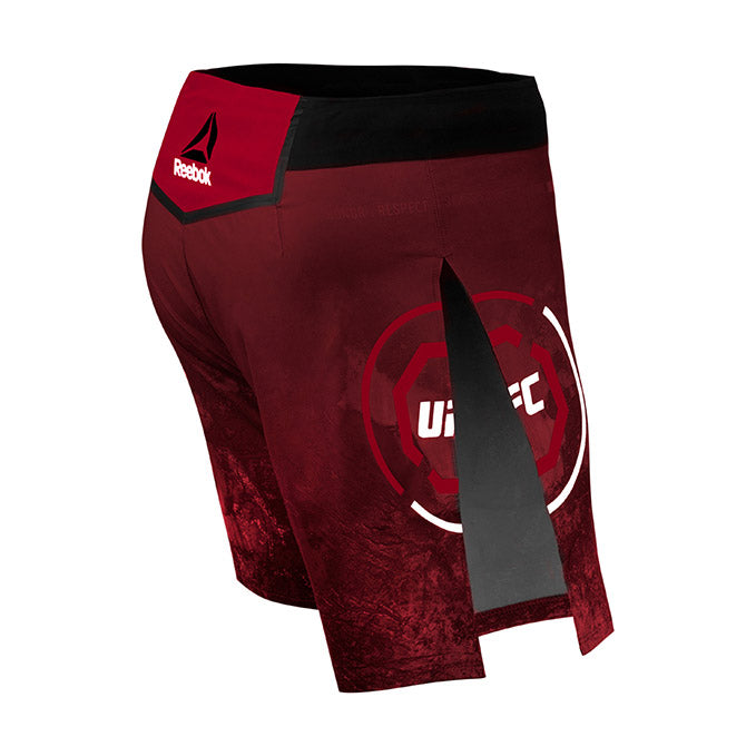 Men's Reebok Authentic UFC Gladiator Trunk Short Long-Maroon