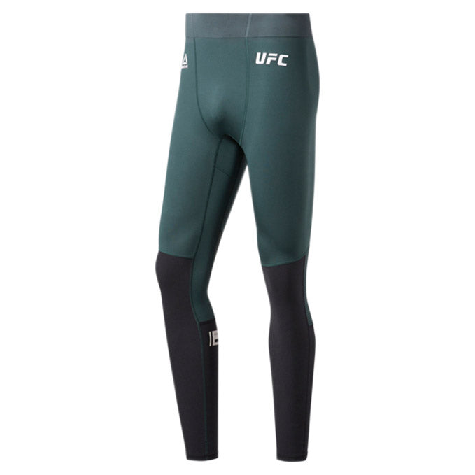 UFC Reebok Fight Week Compression Tights - Ivy Green