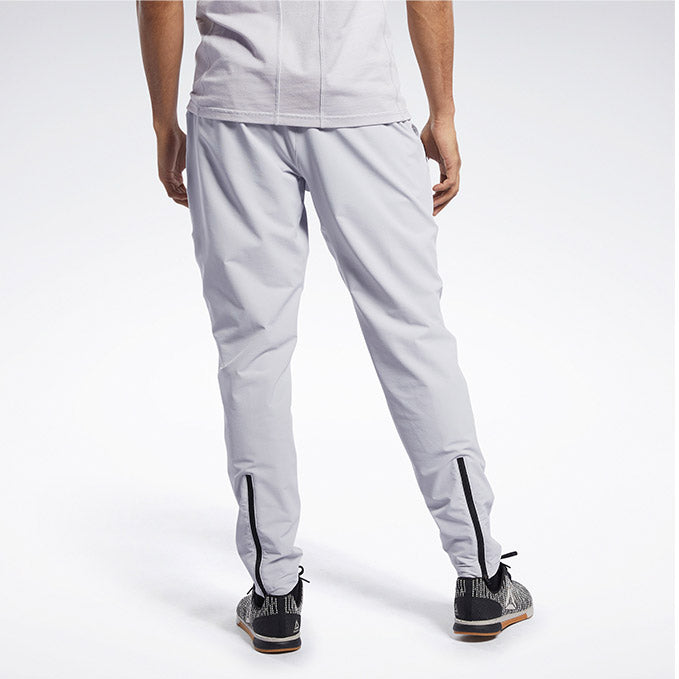 Men's UFC Reebok UBF Woven Track Pant - Light Grey
