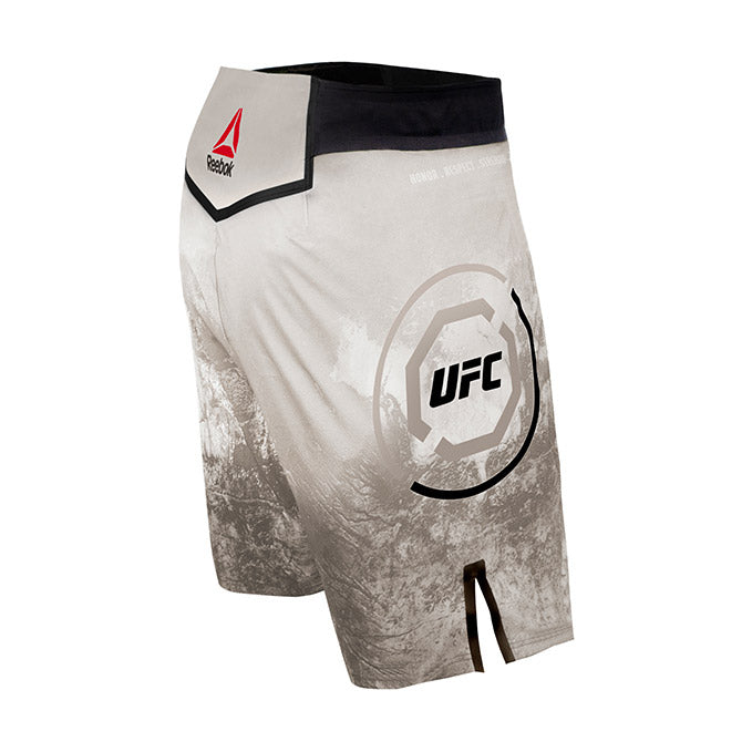 Men's Reebok Authentic UFC Octagon Trunk Short Long - Skull Grey