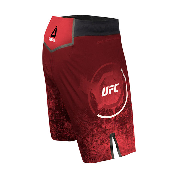 Men's Reebok Authentic UFC Octagon Trunk Short Long - Maroon