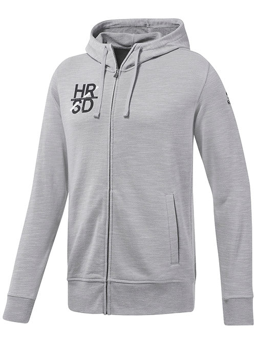 Reebok Grey UFC Fan Gear Logo Full Zip Hoodie