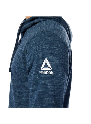 Reebok Navy UFC Fan Gear Logo Full Zip Hoodie
