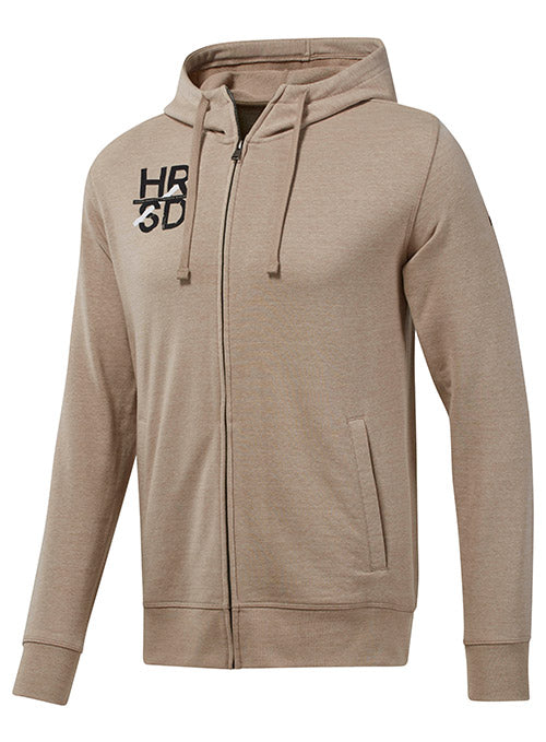 Reebok Sand UFC Fan Gear Logo Full Zip Hoodie