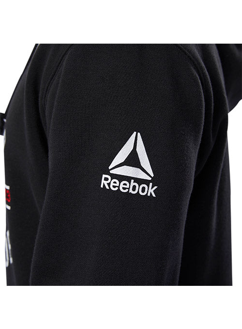Men/'s Reebok UFC Fan Hoodie Pullover Black Blue Grey