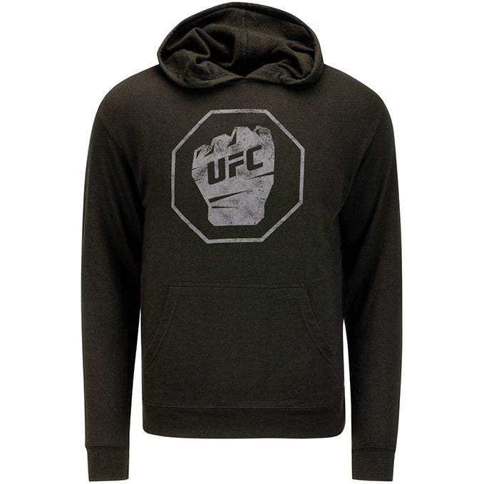 UFC Men's Distressed French Terry Sweatshirt - Black