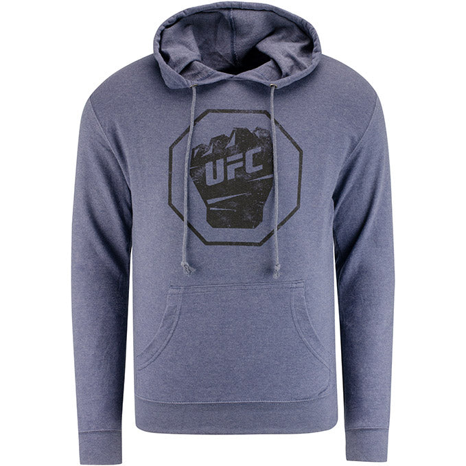 UFC Men's Distressed French Terry Sweatshirt - Denim Heather