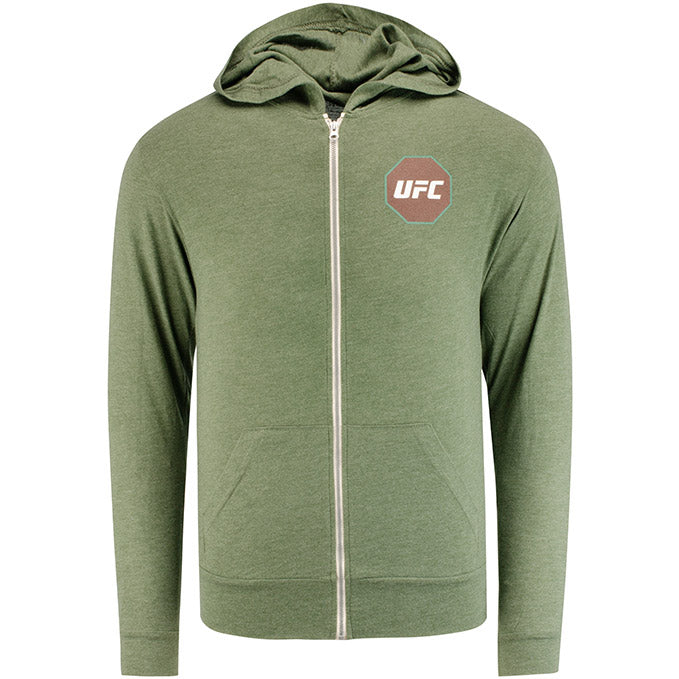 UFC Men's Full Zip French Terry Sweatshirt - Moss Green Heather