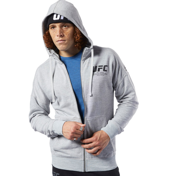 UFC TWO TONE GREY OVER THE HEAD HOODIE BY REEBOK SIZE LADIES SMALL BRAND NEW