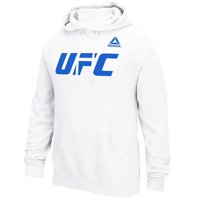 Men's UFC Reebok White Essential Pullover Fleece Hoodie