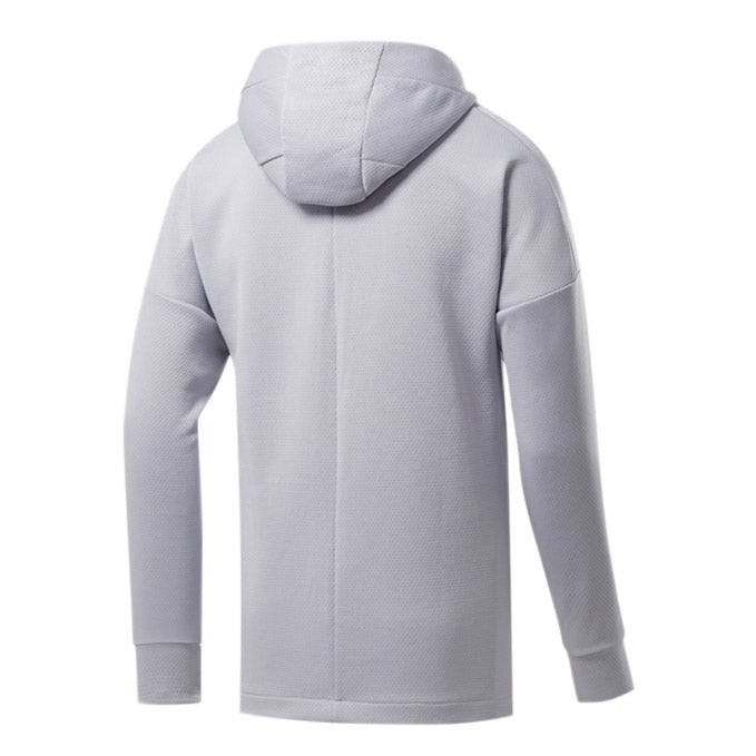 Men's UFC Reebok UBF Full Zip Hoodie - Light Grey