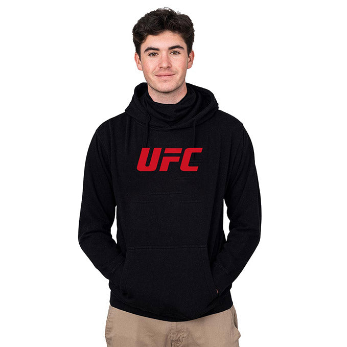 UFC Unisex Hoodie with Built-In Face Cover - Black