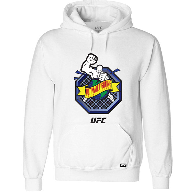 "UFC ""Ulti-Man"" Octagon Ultimate Fighting Championship White Hoodie"