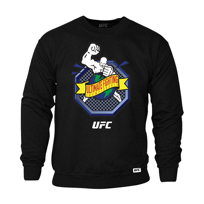 "UFC ""Ulti-Man"" Octagon Ultimate Fighting Championship Black Crew Sweatshirt"