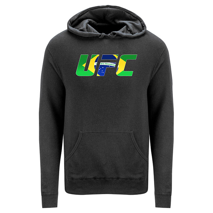 UFC Brazil Country Logo Yellow Hoodie