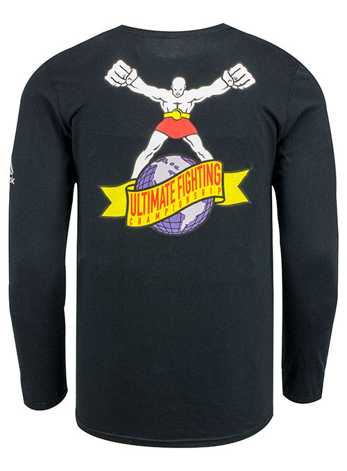 Reebok Black UFC Ulti-Man Globe Long Sleeve T-Shirt
