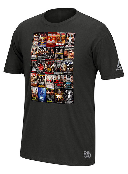 Reebok Black UFC 25th Anniversary Weigh-in Poster T-Shirt