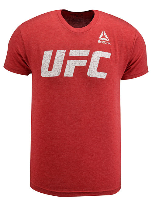 Reebok Red UFC Crackle Logo T-Shirt