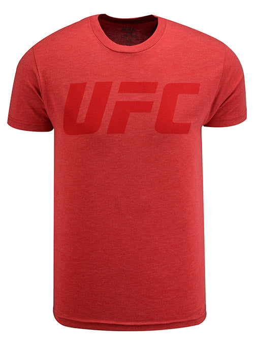 Red UFC Tonal Logo T-Shirt