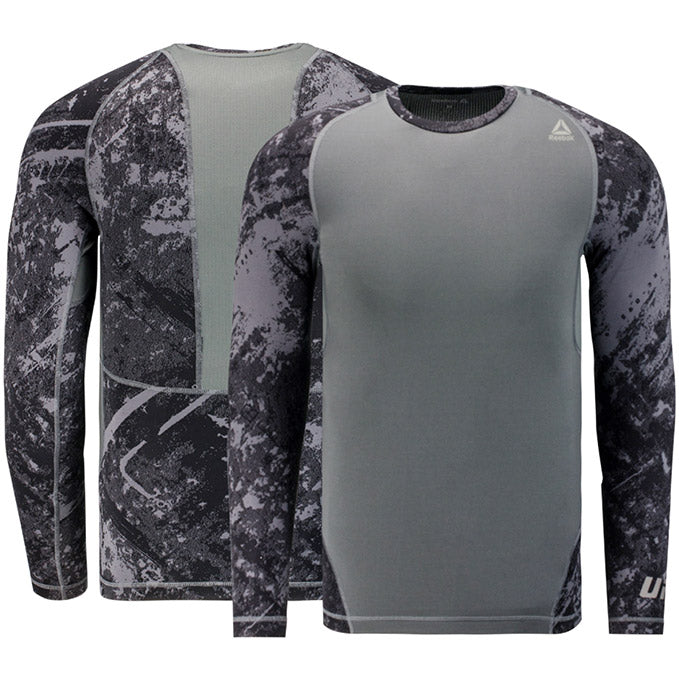 Reebok Black UFC Long Sleeve Compression Shirt